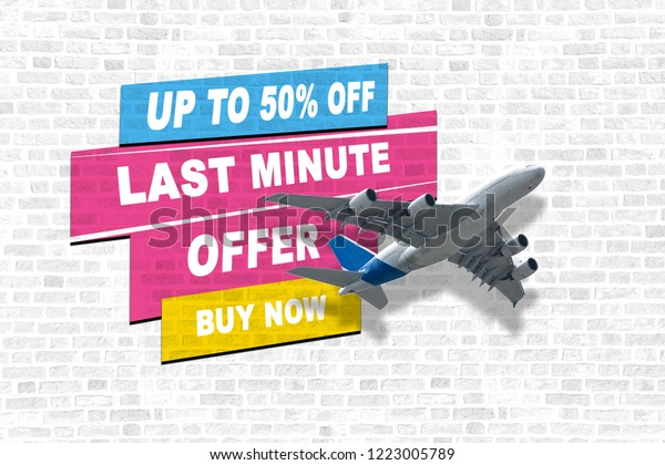 Cheap Last Minute Flights >> Last Minute Offer Concept Cheap Flights Stock Photo Edit