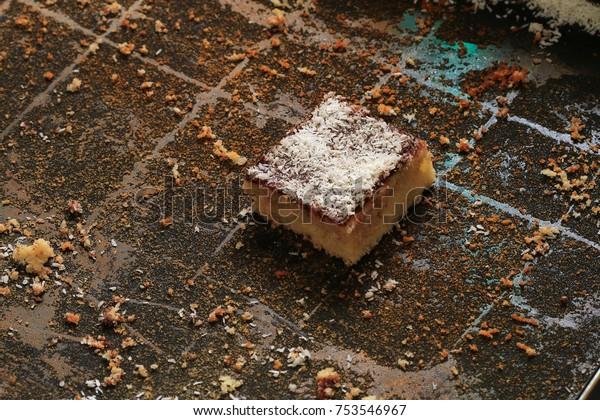 The last piece of coconut cake