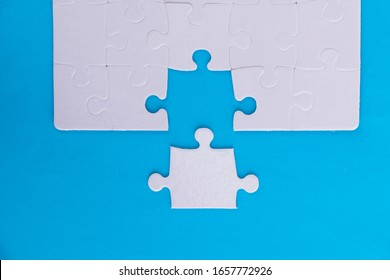 The last piece of jigsaw puzzle.