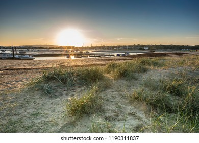 The last rays of summer at Bembridge Harbour, Isle of Wight, England