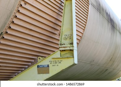 The last remaining unused Space Shuttle External Tank in Green Cove Springs Florida Christmas 2018