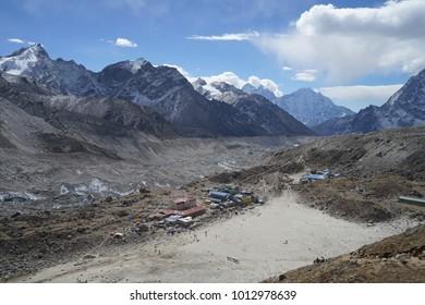 Last rest area before Everest base camp, Gorak Shep.