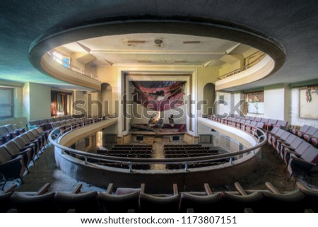 Last Show Abandoned Theater Italy Stock Photo Edit Now 1173807151