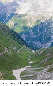 Last snow melting away at the Stelvio pass
