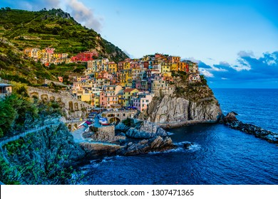 The last Sun of day out of Manarola - Italy(cinque terre- UNESCO World Heritage Site)