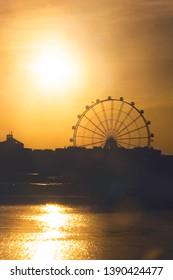 Last sunset of the big wheel