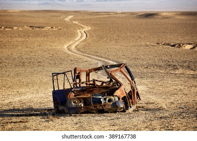 Last way for the car in the desert