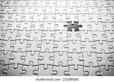 Last White Jigsaw Lost