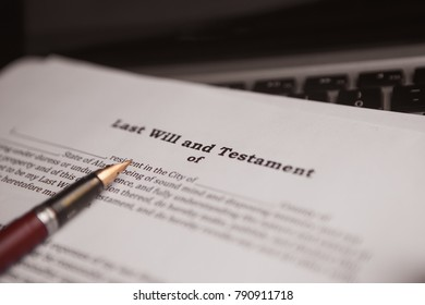 Last Will and testament (not real document)