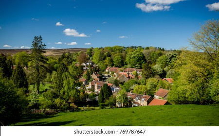 Lastingham village in the North York Moors national park in summer