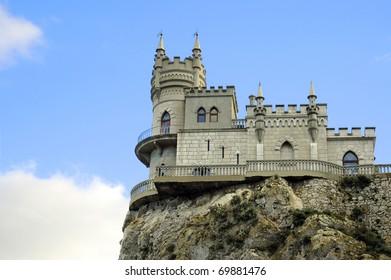 Lastochkino gnezdo / Swallow's nest, Crimea, Ukraine. Close view