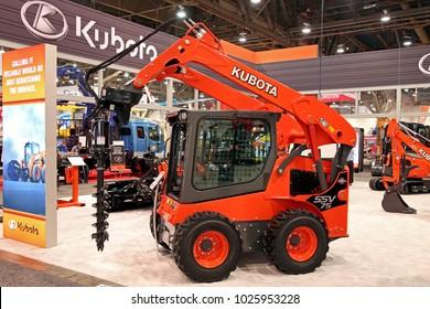 Las-Vegas, USA - Jan 24, 2018: skid steer loader Kubota SSV75 at World of Concrete 2018, las-Vegas