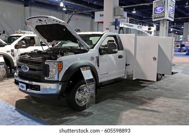 Las-Vegas, USA - March 8, 2017: Service pickup truck Ford F550 at CONEXPO-CON/AGG 2017, las-Vegas
