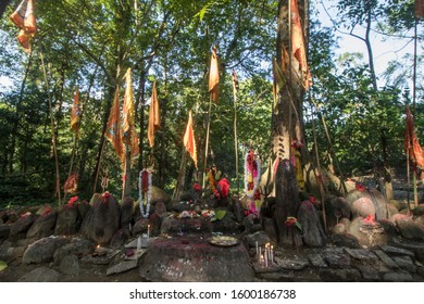 Lataguri, West Bengal / India - November 9, 2019: The famous Mahakal temple in West Bengal, which is symbolic to worship Elephants