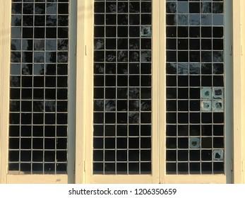 late 19th century lead paned window