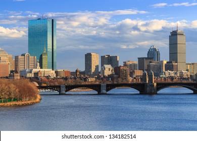 Late Afternoon Boston Back Bay Skyline