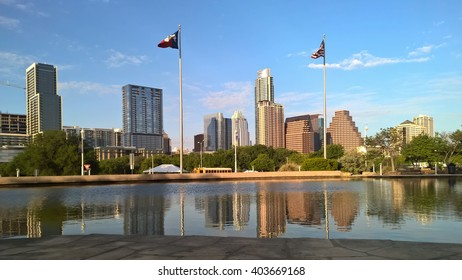 late afternoon downtown Austin skyline