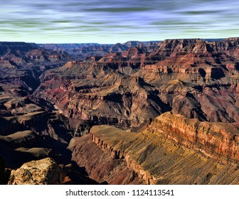 Late afternoon in the Grand Canyon Arizona USA