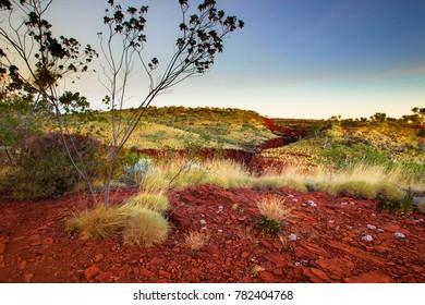 Late afternoon at Hancock Gorge in Karijini National Park, Western Australia