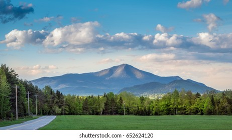Late afternoon image of Whiteface Mountain in the Adirondacks at Lake Placid, New York