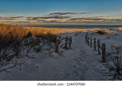 Late afternoon at Island Beach State Park in Berkley Township, New Jersey.