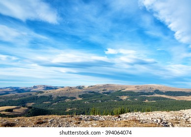 Late afternoon landscape in the Bighorn Mountains near the Medicine Wheel