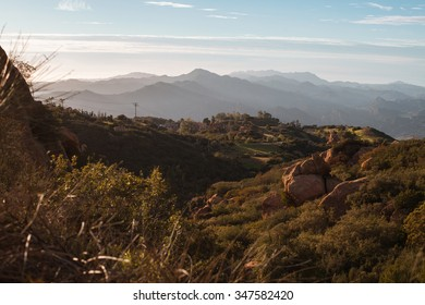 Late afternoon on a summer day in the Santa Monica mountains.