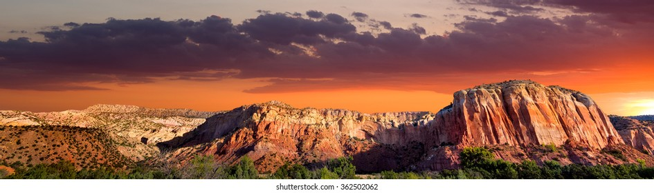 Late afternoon in the Red Rocks area of Northern New Mexico featuring amazing colors and rock formations
