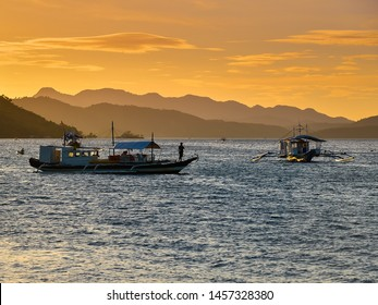 Late afternoon scene - Coron Bay, Coron, Palawan, Philippines