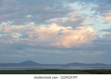 Late afternoon sun looking across the bay in Wilsons Promontory national park, Victoria, Australia