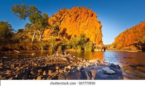 Late afternoon sun on a gorge on the Old River in the Kimberley Region of Western Australia