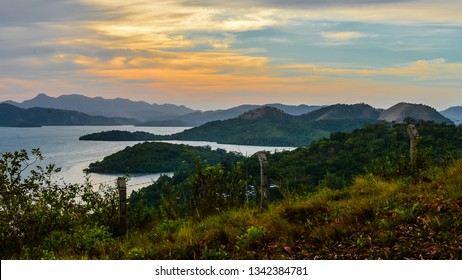 Late afternoon view, mountains and bay - Coron, Palawan, Philippines