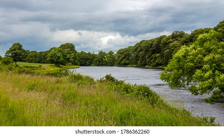 Late evening cloud on the River Dee in Galloway near Kirkcudbright, Scotland