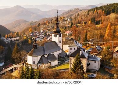 Late fall morning in Spania Dolina (A pania Dolina), Slovakia.