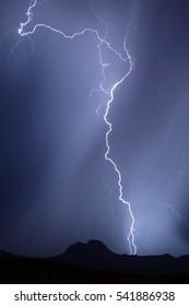 A late night lightning storm during the 2009 Arizona Monsoon season.
