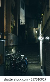 Late night in Tokyo residential. Horror feel