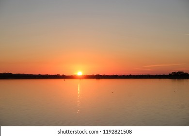 Late September sunset on Cheddar Reservoir.
