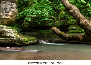 late springtime in Illinois canyon, starved rock state park, Illinois