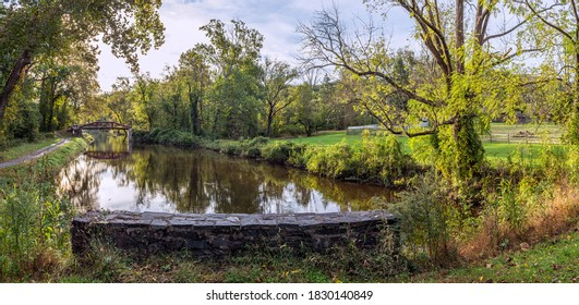 A late Summer day on the Delaware Canal in Bucks County Pa.