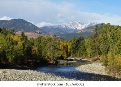 Late summer view of Mt Gardner and Methow River