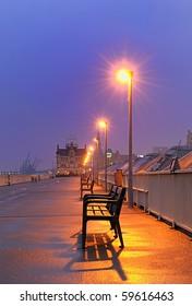 Late winter evening in Antwerp