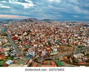 Late-afternoon in Antananarivo, Madagascar