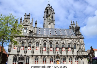 The late-gothic town hall of Middelburg (Zeeland province), Netherlands