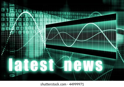 Latest News Headlines Background Sign as an Art