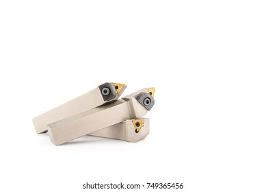Lathe knife. Tool for metal. isolated on white background. Clipping path.