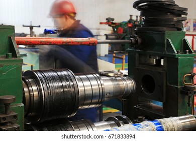 Lathes and workers