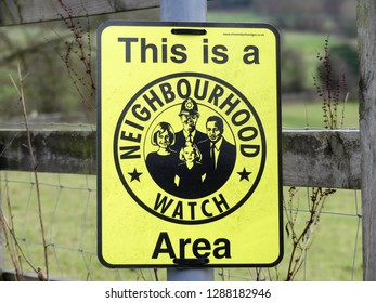Latimer, Buckinghamshire, England, UK - January 18th 2019: This is a Neighbourhood Watch Area sign