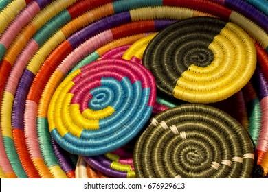 Latin american colorful crafts, handmade art