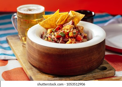 Latin american pork stew with beer