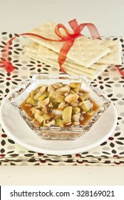 Latin ceviche with avocado and mushrooms, vegetarian food